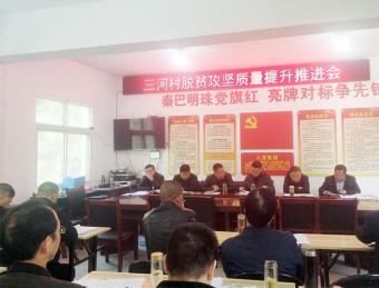 汉滨人大机关在三河村召开脱贫攻坚质量提升推进会