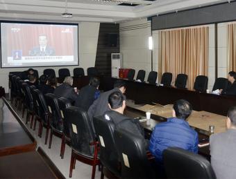 汉滨人大机关干部集中收看十三届全国人大四次会议开幕会
